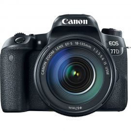 Canon EOS 77D w/ EFS 18-135mm IS USM Lens Digital SLR Camera