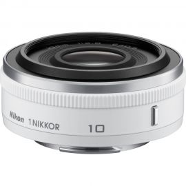 Nikon 1 Nikkor 10mm f/2.8 White Wide Angle Lens