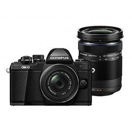 Olympus OM-D E-M10 Mark II w/14-42mm & 40-150mm EZ Lens Black Compact System Camera