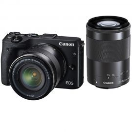 Canon EOS M3 w/18-55mm & 55-200mm IS STM Lenses Compact System Camera
