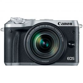 Canon EOS M6 Silver w/EF-M 18-150mm f/3.5-6.3 IS STM Lens Compact System Camera