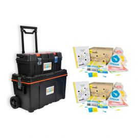 2 X Strawbees STEAM School Kit With Free Storage Kit