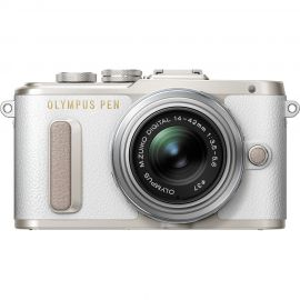 Olympus PEN E-PL8 w/14-42mm EZ Lens White Compact System Camera