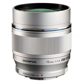 Olympus M.Zuiko 75mm f/1.8 Lens Silver