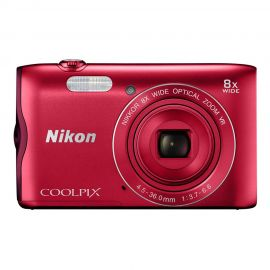Nikon Coolpix A300 Red Digital Compact Camera